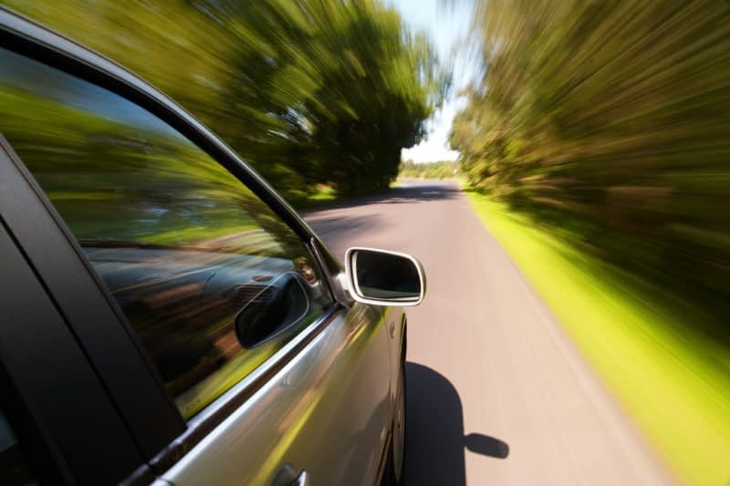 Vitesse du véhicule surveillée par GPS