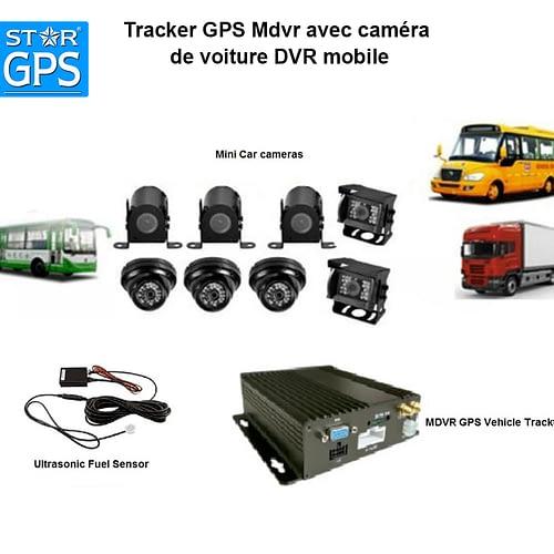 Tracker GPS Mdvr avec caméra de voiture DVR mobile au Maroc