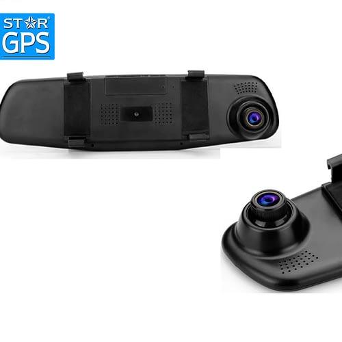 Double caméra rétroviseur voiture DVR avec Dash Cam au Maroc